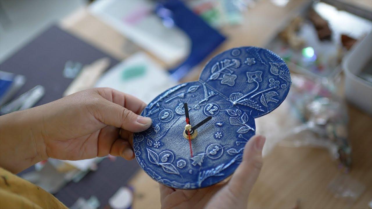 デコボコ模様で時計づくり